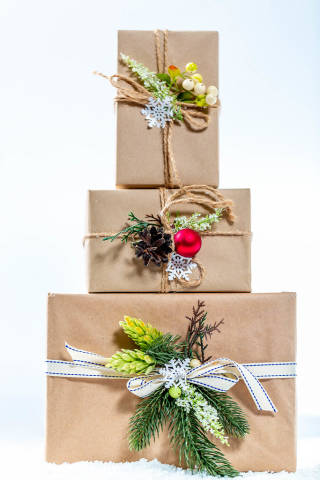 Beautifully Packed gifts for the new year holidays