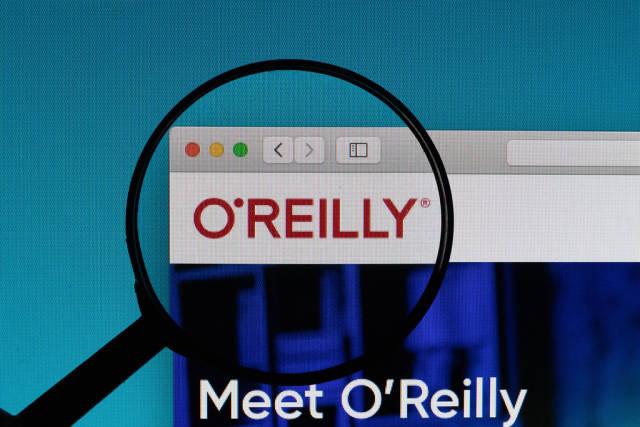 OReilly Media logo under magnifying glass