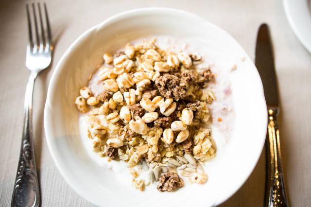 Bowl with yogurt and Swiss müsli