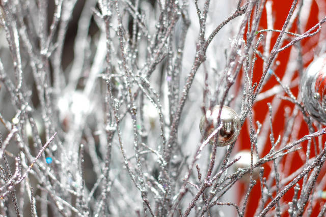 Christmas Silver Tree Close-Up