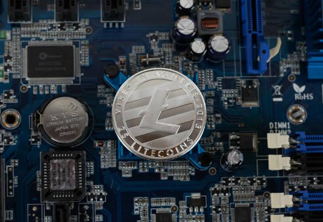 Litecoin auf dem Chipsatz einer Hauptplatine
