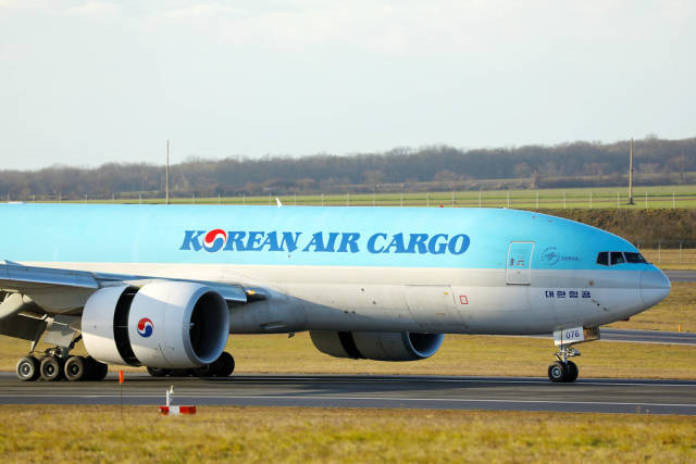 Korean Air Cargo, close-up view