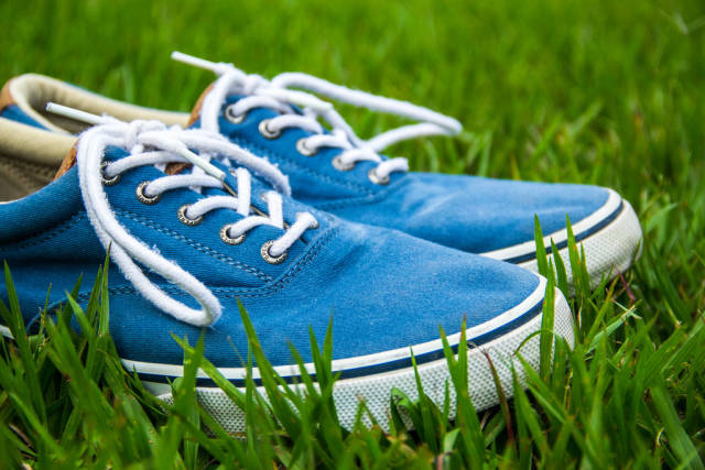 Casual Shoes on Grass