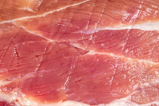 Raw pork fillet, close up