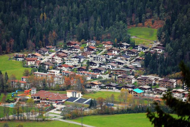 Ellmau, Tirol, Austria, seen from above