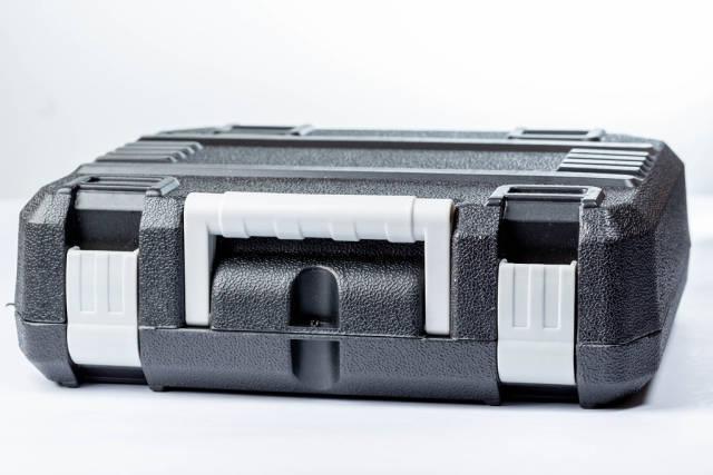 Black tool box on white background