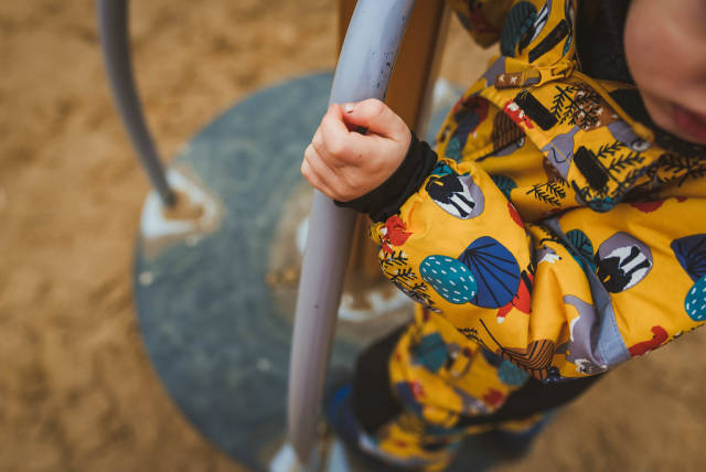 Active Kids Sport And Playtime - Hand Of Child Climbing At Playground