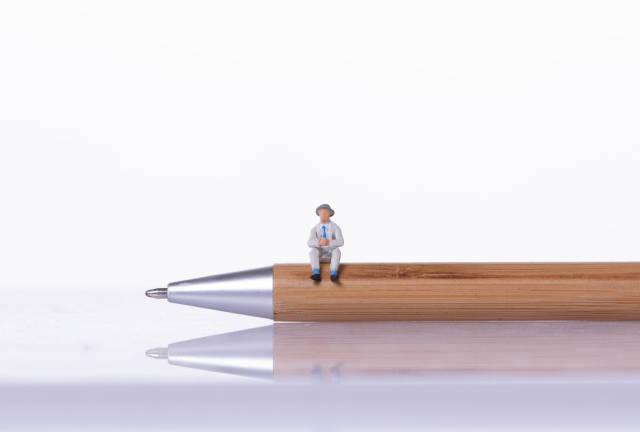 Man sitting on a wooden pen