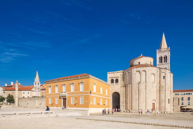 Ancient Roman forum in city of Zadar, Croatia
