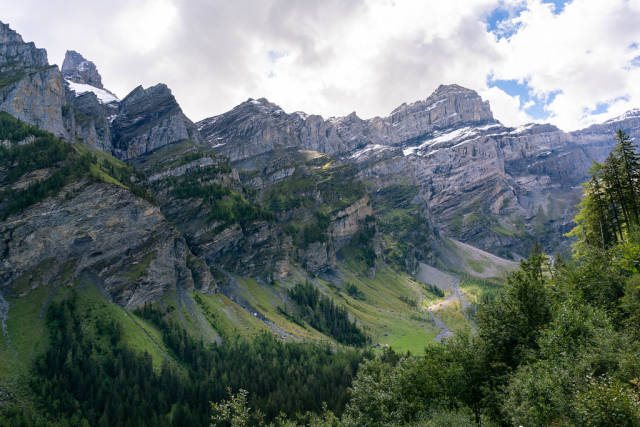 Epic mountain summit of Culan near Bex, Switzerland