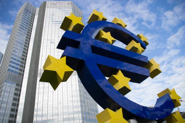 Der Eurotower in Frankfurt am Main