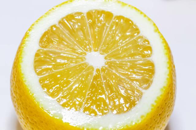 Cut ripe juicy lemon