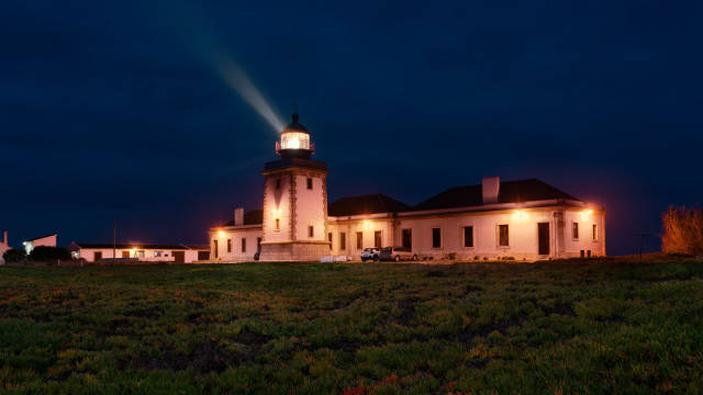 Portugese lighthouse at night
