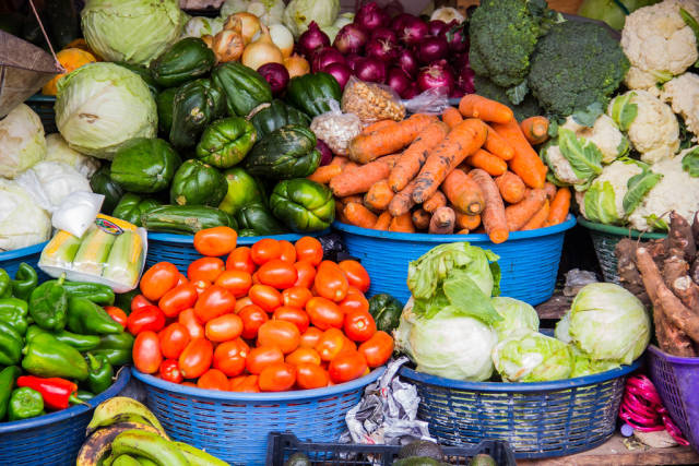 Stand Selling Fresh Vegetables