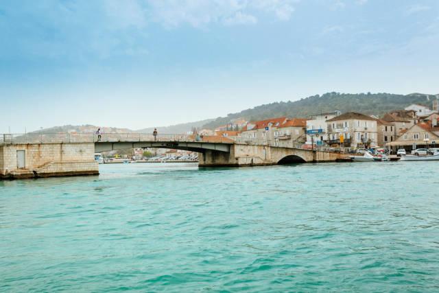 Bridge connecting Trogir and Ciovo