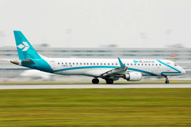 Air Dolomiti taking off from Munich Airport
