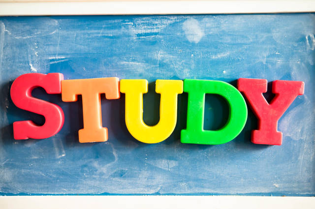 Color letters reading STUDY