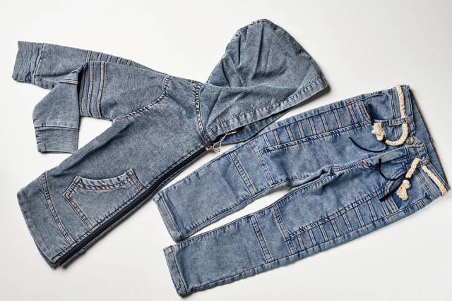 Trendy childs jeans pant and jacket