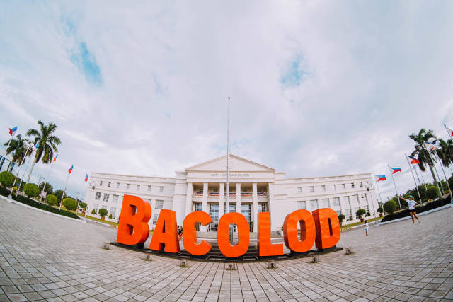 """Bacolod"""" decor infront of the Government Center, Bacolod City"""