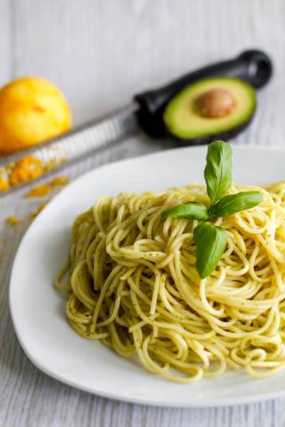 fresh avocado pasta