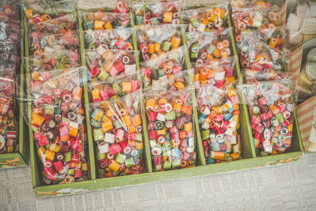 Colorful Caramels  Sweets in Packages