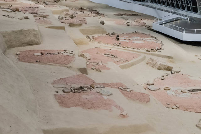 Lepenski Vir -  jungsteinzeitliche archäologische Fundstätte und Museum