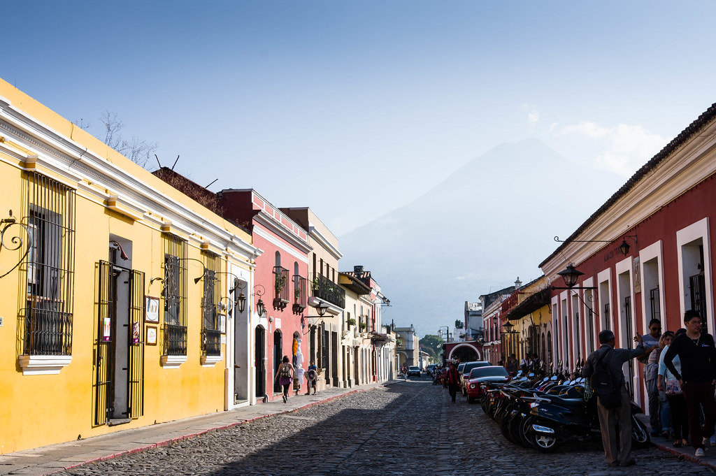 Touristic street in Antigua, Guatemala