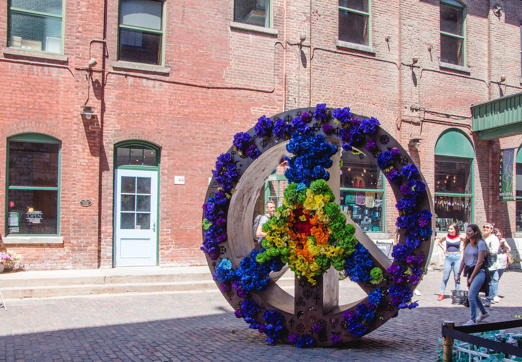 Peace and Love Sign with Flower