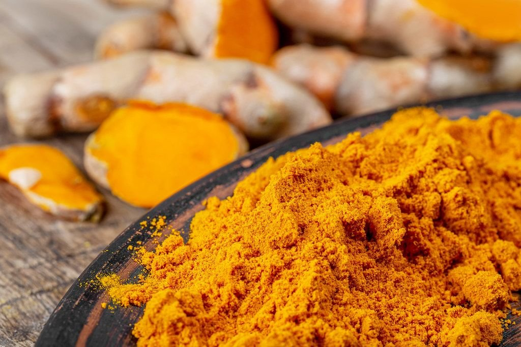 Orange turmeric powder with fresh turmeric (Flip 2020)