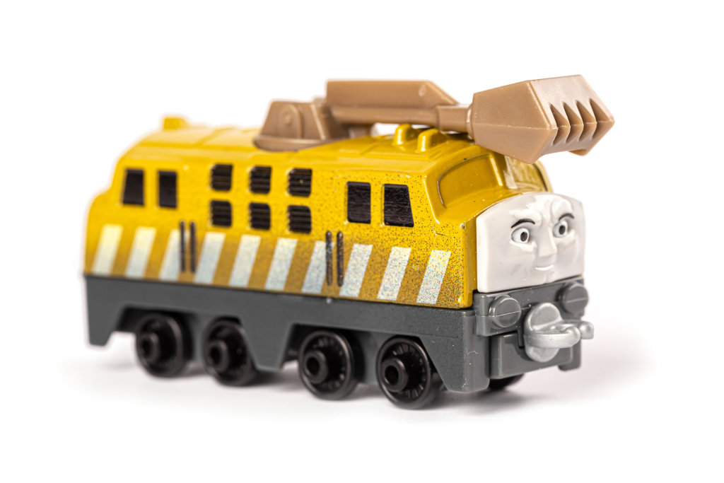 The diesel engine is a toy from the cartoon thomas and his frien