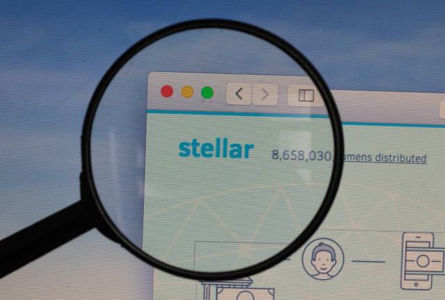 Stellar logo under magnifying glass