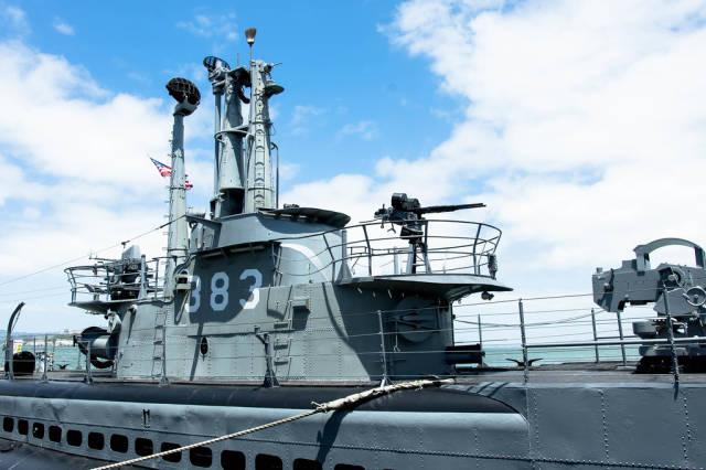 Top part of a war submarine