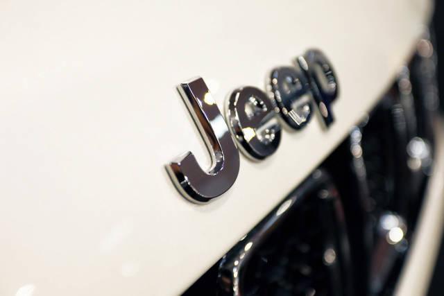 Jeep Compass close-up view of logo, Bucharest Auto Show 2019