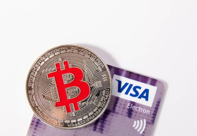 Silver Bitcoin with Visa credit card