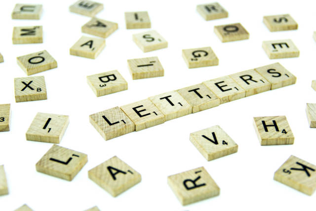 Letters in disorder and reading LETTERS