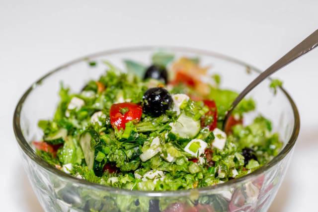 Bowl of Greek salad