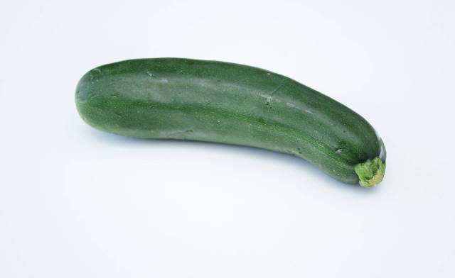 Isolated Zucchini on a White Background