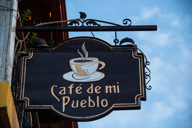 Sign saying Coffee of my Town