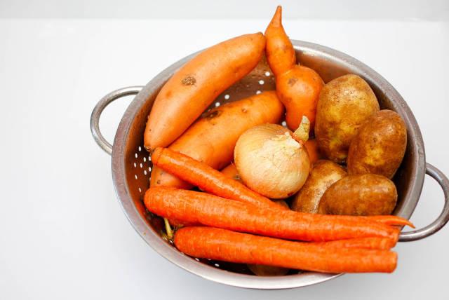 Mix of Carrots, Potatoes, Onion, Sweet Potatoes