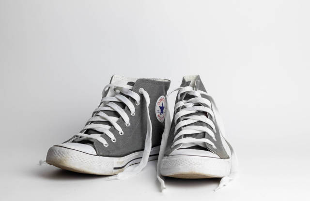 Sneakers on white background