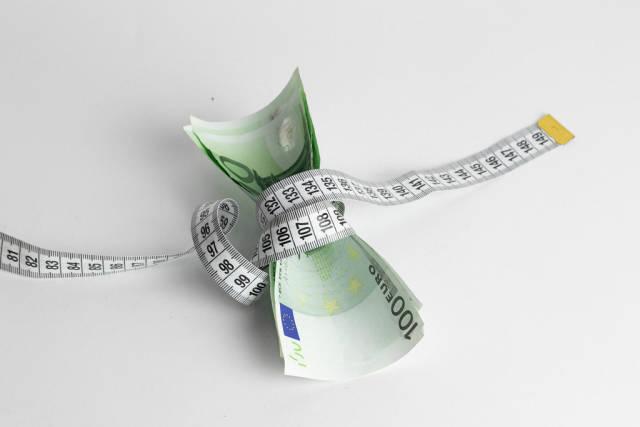 Money shortage concept