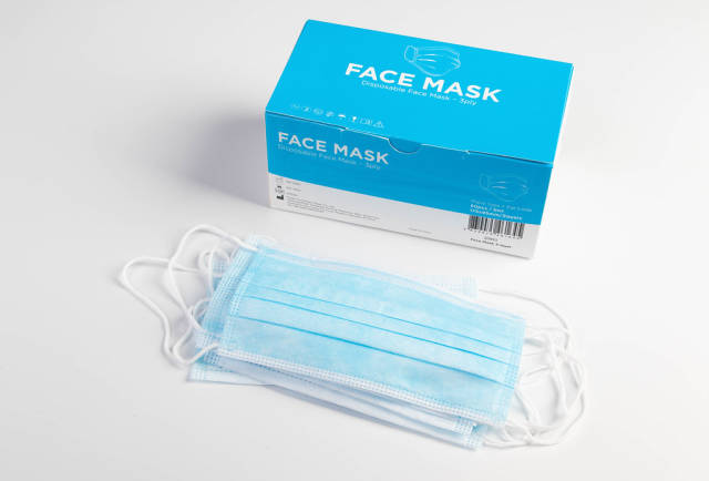 Box of medical face masks