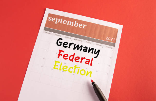 Calendar with Germany Federal Election text