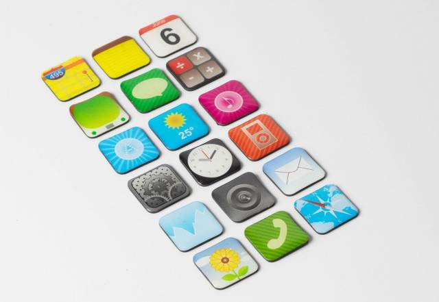 App Symbole auf weißem Hintergrund