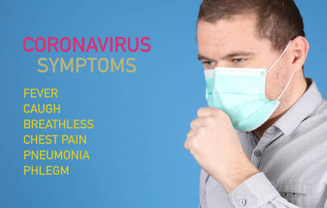 Man suffer from cough with Coronavirus Symptoms list