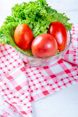 Fresh vegetables for salad