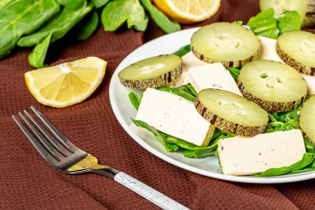 Fresh salad with pepino, healthy food