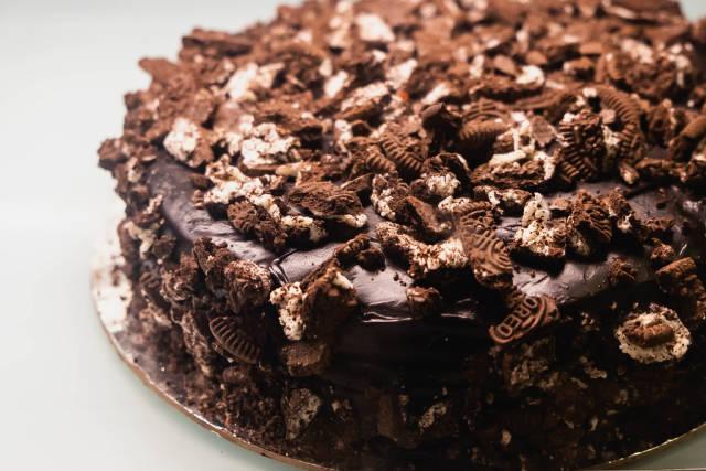 Close up of a delicious oreo chocolate cake