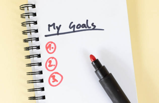 My goals handgeschrieben