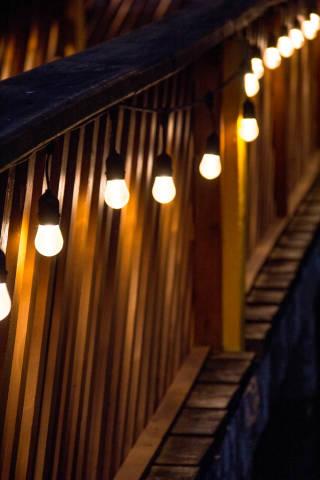 Lights Decorating a Bridge